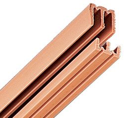 Knape And Vogt P2413tan48 48 1219mm Plastic Track Set For 1 8 Thick Bypassing Doors Tan The Hardware Hut Sliding Doors Doors Thick