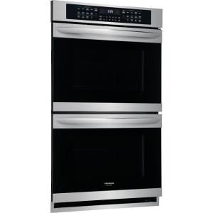 Frigidaire Gallery 30 In Double Electric Wall Oven With True Convection Self Cleaning In Stainless Steel Fget3066uf The Home Depot Double Electric Wall Oven Electric Wall Oven Wall Oven