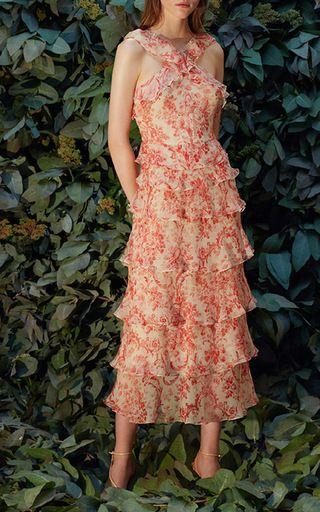 Giovana Printed Tiered Ruffle Dress by Vilshenko