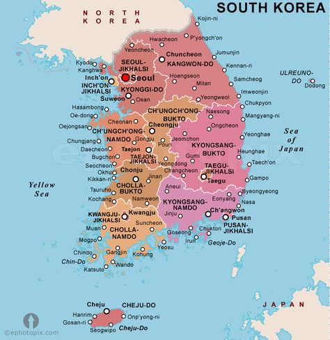 Korea South Map httptravelsfinderscomkoreasouthmaphtml