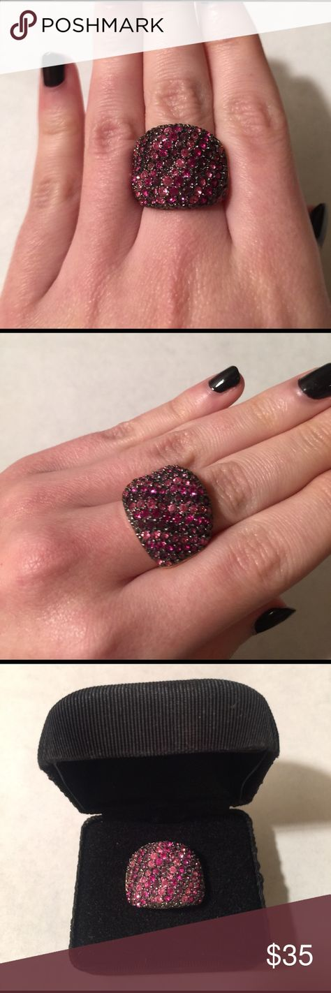 Joan Rivers Fuchsia Crystals Ring