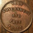 1857 PEI SELF GOVERNMENT AND FREE TRADE HALFPENNY TOKEN - Medal die axis #Coins&PaperMoney