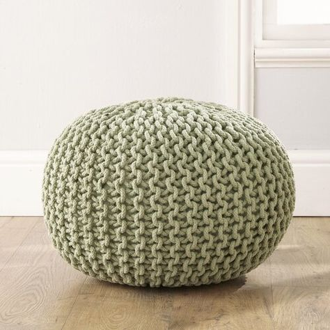 Cleo Pouffe Zipcode Design Upholstery Colour: Sage
