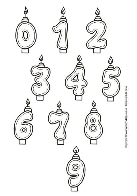 Great Images Birthday Candles Template Popular After You Think Of A Birthday Party What Pops In 2021 Birthday Candle Template Birthday Coloring Pages Birthday Candles