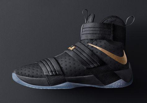 innovative design fbc52 67017 Nike LeBron Soldier 10 Black Gold NBA Finals
