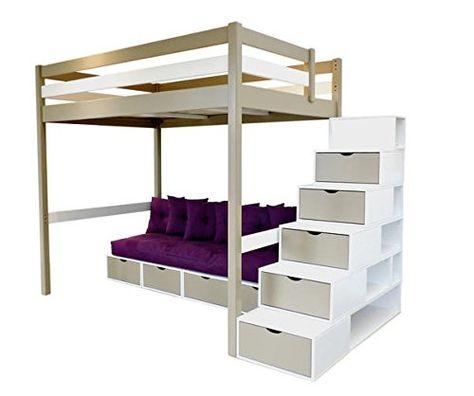 Abc Meubles Mezzanine Sylvia 140 200 Avec Escalier Cube Et