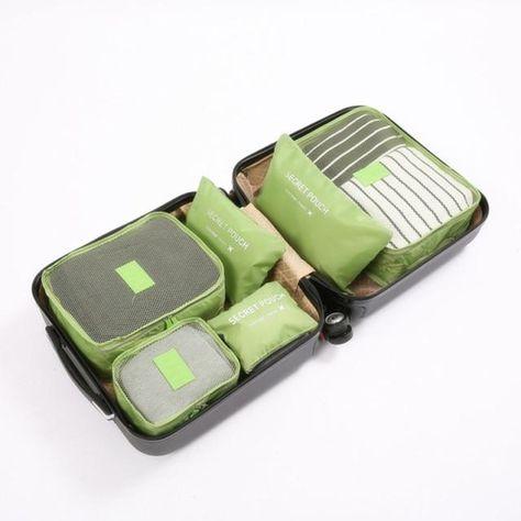 Travel Storage Bags - Green