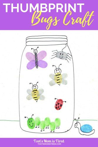 Thumbprint Bugs Craft For Toddlers And Preschoolers Toddler Activity Preschool Activity Art Project Insects Preschool Preschool Bugs Crafts Toddler Crafts Preschool for year olds near me