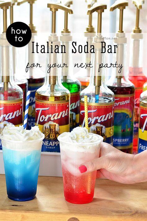 an Italian soda bar