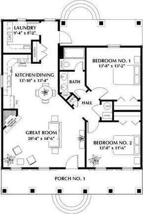 2 Bedroom 1 Bath Cabin Lodge House Plan Alp 03wg Cottage House Plans Dream House Small Room Design
