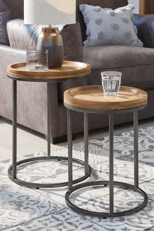 Buy Amsterdam Nest Of 2 Tables From The Next Uk Online Shop Acacia Wood Furniture Wood Nesting Tables Table