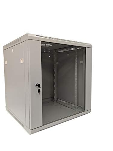 Kenuco Lnww Deluxe It Wall Mount Cabinet Server Rack Data Network Enclosure 19 Inch Server Network Rack With Locking Temper Black Rack Network Rack Cabinet