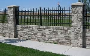 29 Best Wrought Iron And Stone Fences For My Dream House With