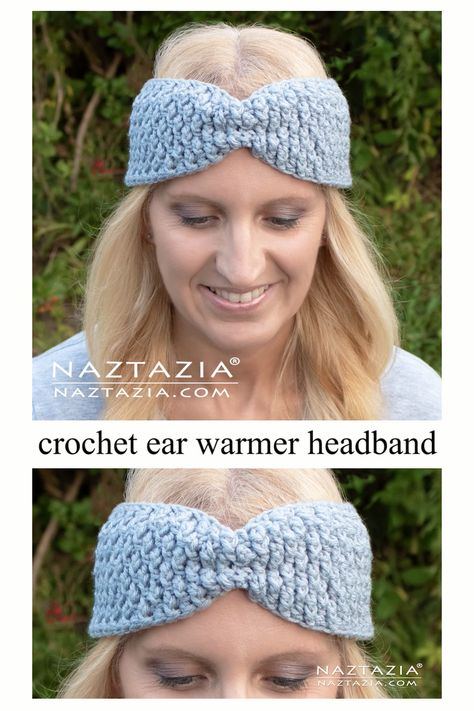 If you are looking for a nice, textured ear warmer headband, this pattern is for you. It can be worn with the gather in the middle or as a straight band. The texture is created by alternating front post double crochet with regular double crochet stitches. Three sizes are included in the pattern, but it is very easy to customize to fit any head size.