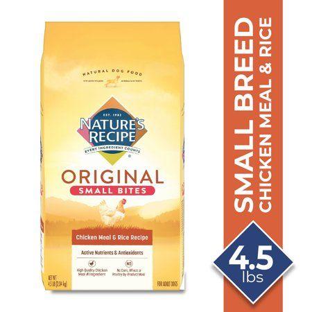 Nature S Recipe Small Bites Chicken Meal Rice Recipe Dry Dog Food 4 5 Pound Walmart Com Dry Dog Food Dog Food Recipes Rice Recipes