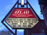 """Would Jesus really stone """"homos?"""" So said the sign on this church. That's not the message I understand Jesus left."""