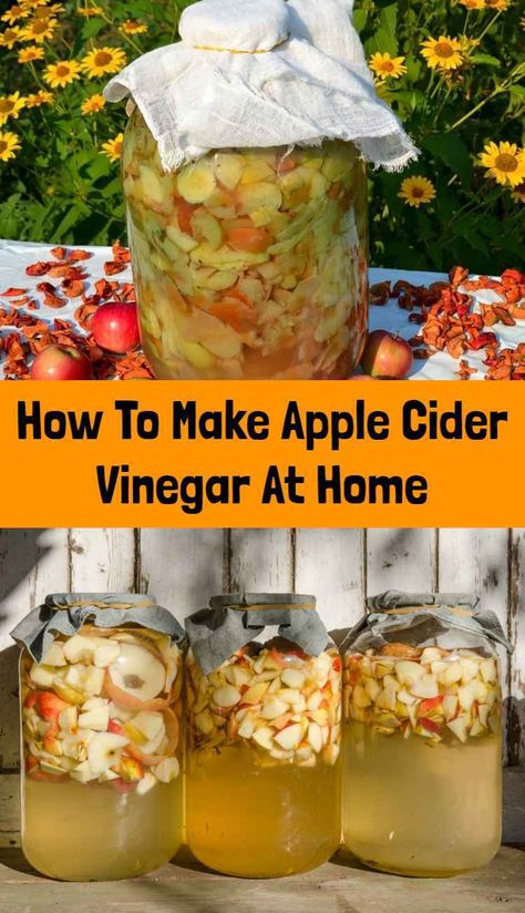 How To Make Your Own Apple Cider VinegarYou can find Apple cider vinegar and more on our website.How To Make Your Own Apple Cider Vinegar Homemade Apple Cider Vinegar, Apple Cider Vinegar Remedies, Apple Varieties, Natural Cold Remedies, Fermented Foods, Canning Recipes, Healthy Recipes, Apple Recipes, Healthy Food