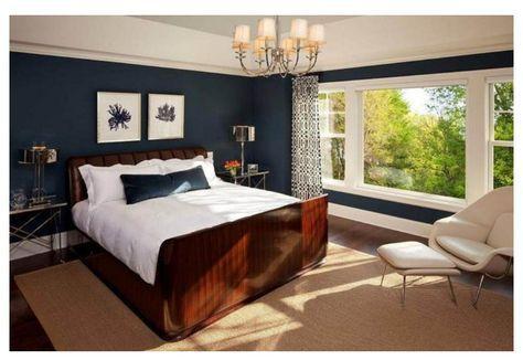 12 Idees Pour Une Decoration De Chambre En Bleu Marine Deco Chambre Marron Chambre A Coucher Bleu Et Decoration Chambre