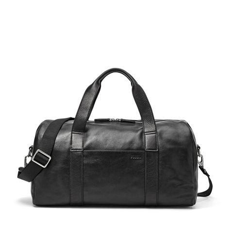 d1193dc1119 Fossil Mercer Black Leather Duffle | Fall