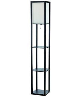 Simple Designs Floor Lamp Etagere Organizer Storage Shelf With