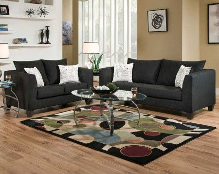 Camino Caviar Sofa Loveseat Discount Living Room Furniture Furniture Design Living Room Cheap Living Room Rugs