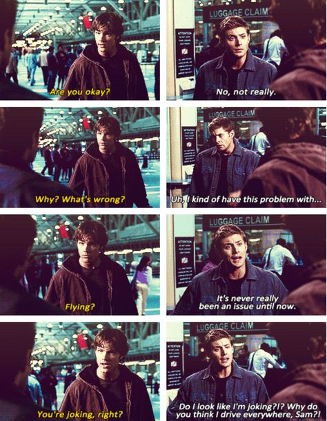 Poor Dean, strongest, toughest guy in the universe, and poor guy has to face his only human fear!