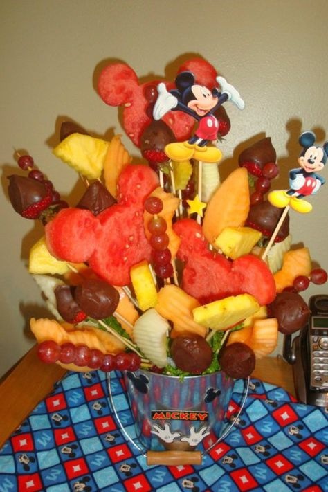 Mickey fruit bouquet more with fruit fruit dishes fruit bouquets food