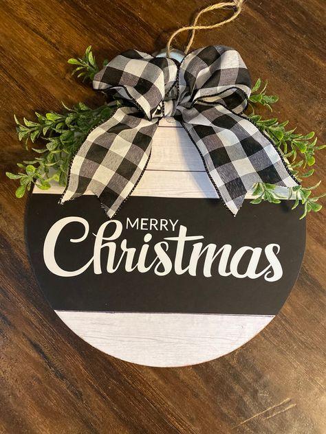 Dollar Tree Christmas Ornament Sign DIY