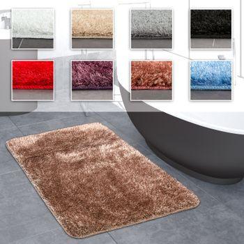 Kuscheliger Hochflor Teppich Furs Badezimmer In Verschiedenen