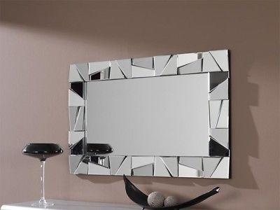 Specchio Moderno Per Ingresso.Specchio Parete 60x90 Reversibile Design Moderno Mosaico Ingresso Salotto Camera Specchio Da Parete Specchi Moderni Specchi Da Parete Decorativi