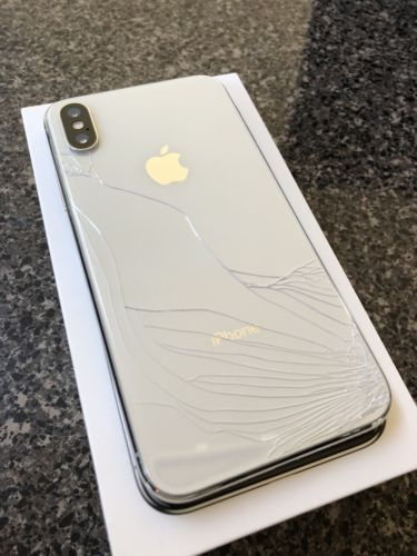 Apple Iphone X 256gb Silver At T A1901 Cracked Broken Back Defect On Lcd Cracked Iphone Iphone Apple Iphone Accessories