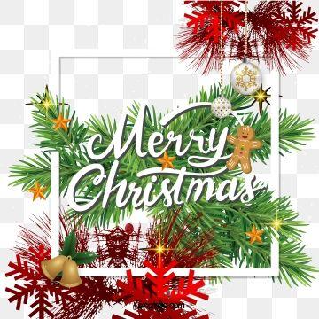 Design De Fronteira De Arvore De Natal Realista Material De Imagem Png E Vetor Christmas Border Border Design Christmas Images Clip Art