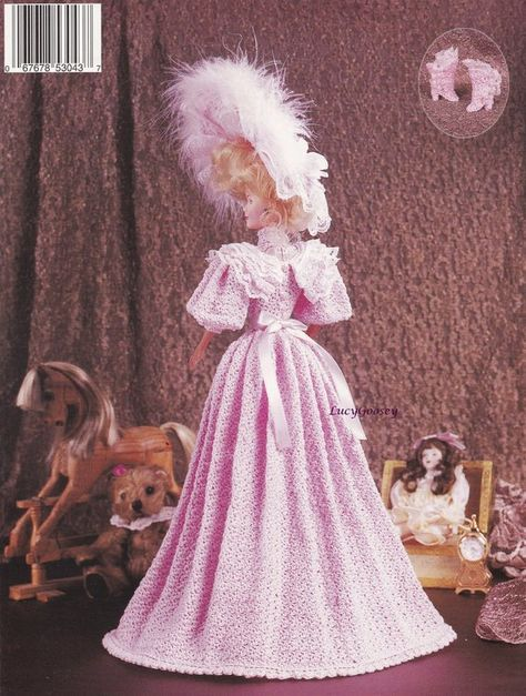 1894 Visiting Costume for Barbie Doll Paradise #22 Crochet PATTERN LEAFLET