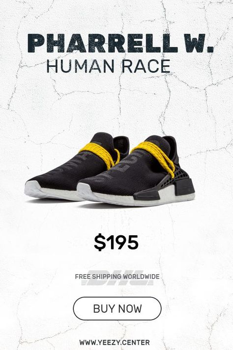 688ec67ce6874 How to get new Human Race Adidas HU Black   PW fake sneakers in 2019 ...