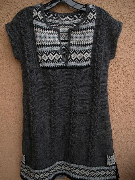 Knit Fair Isle Tunic