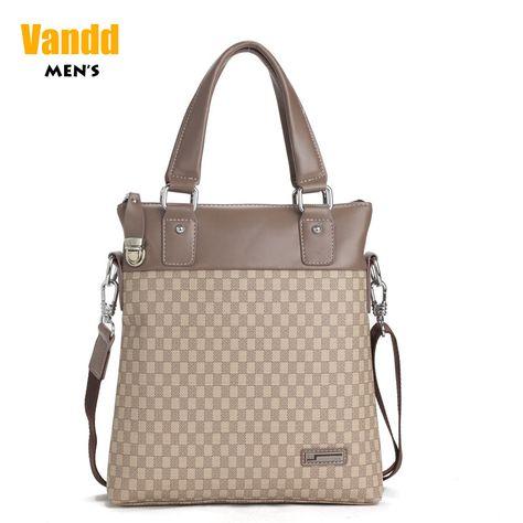 Aliexpress.com : Buy Vandd Men's PU Leather Khaki Paid Tote Handbag Fashion Shoulder Messenger Bag New Designer Style from Reliable sport men bag suppliers on Vandd Men. $57.00