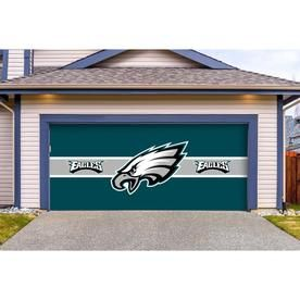 Imperial International Philadephia Eagles 16 Ft W X 7 Ft H Double Garage Door Cover Lowes Com In 2020 Double Garage Door Garage Doors Double Garage
