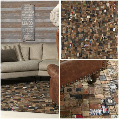 From Jeans Label to Carpet #Carpet, #Jeans, #Recycled