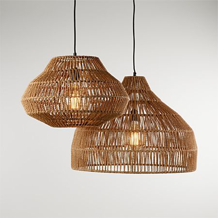 Cabo Small Woven Pendant Light Crate And Barrel Canada In 2020