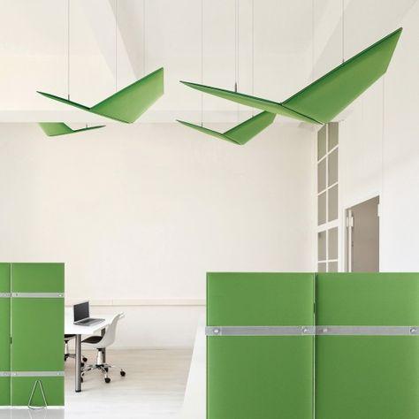 Akustik-Decken-Paneel Sanremo Akustik, Paneele und Decken - design schallabsorber trennwande