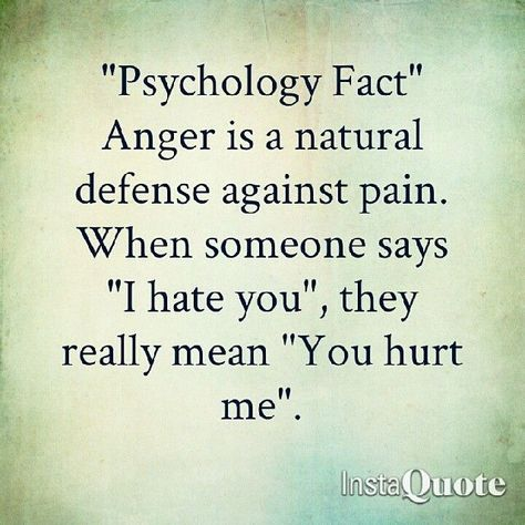 Hurt vs. anger -- to some extent, but hurt can turn to hate when the other person refuses to take responsibility for their actions