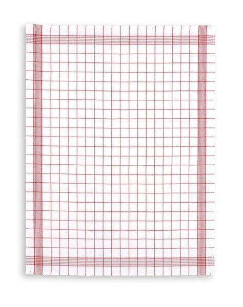 Halbleinen-Geschirrtuch-Triolino®,Trockenperle klassisch rot, 60x80