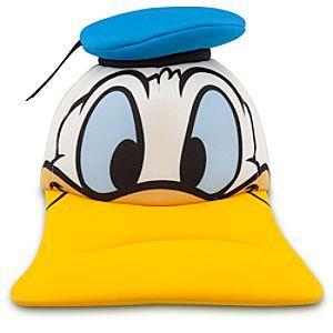 OFFICIAL DISNEY NEW DONALD DUCK FACE ORANGE SNAPBACK CAP