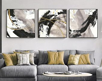 3 Pieces Gold Art Abstract Painting Canvas Wall Art Picture Etsy In 2020 Multi Canvas Painting Wall Art Pictures Abstract Canvas Painting