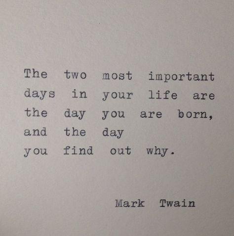 Mark Twain Quote Hand Typed on Typewriter by WhiteCellarDoor