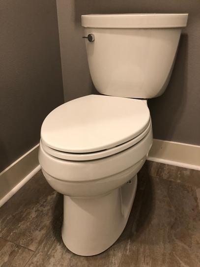 Kohler Cimarron Comfort Height The Complete Solution 2 Piece 1 28 Gpf Single Flush Elongated Toilet In White Seat Included K 11451 0 Cimarron Sophisticated Bathroom Decor Sophisticated Bathroom