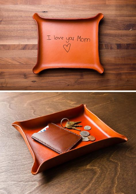 Personalized Leather Catchall