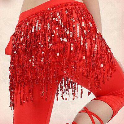 Belly Dance Fringe Tassel Hip Scarf Skirt Wrap Belt Ballroom Latin Salsa Skirt