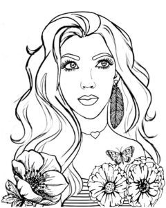 Flower Girl Coloring Page Coloring Pages For Girls Coloring Pages Color