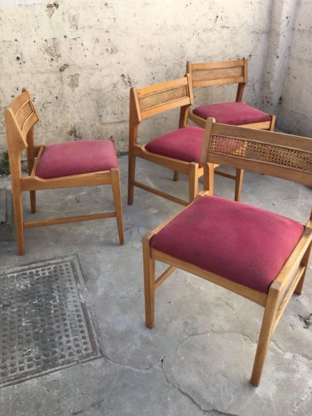 Vintage Retro Mid Century Oak Dining Chairs R800 Each Salt River